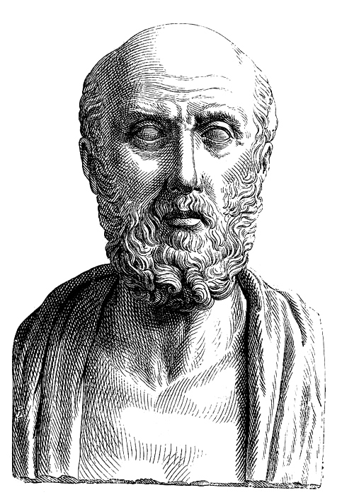 Hippocrates (19th century engraving based on Roman busts)