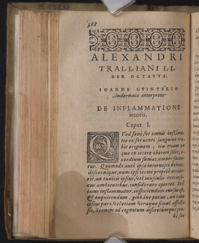 Italian copies of Alexander of Tralles' treatises (exhibits.hsl.virginia.edu)