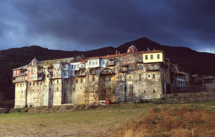 The Iviron Monastery on Mount Athos