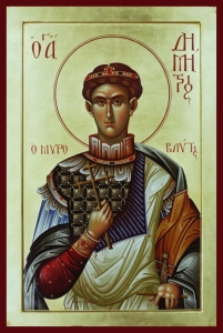 An icon of Saint Demetrios (omhksea.org)