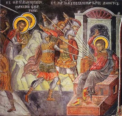 The Martyrdom of St. Demetrios (2.bp.blogspot.com)