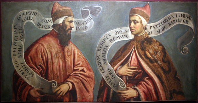 Pietro II Orseolo (left) and his son Otto