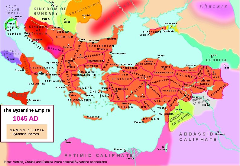 A Lovely Looking But Very Misleading Map 1045 The History Of Byzantium