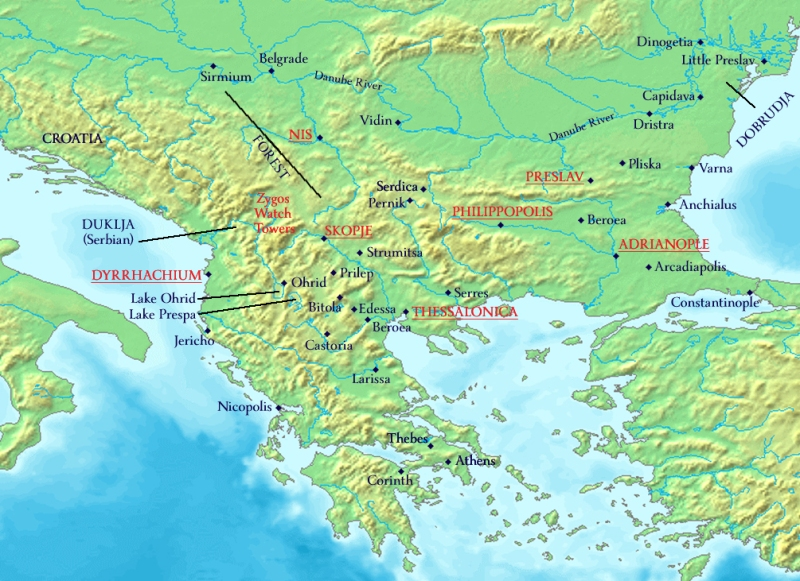 My map of the Balkans duing 11th century