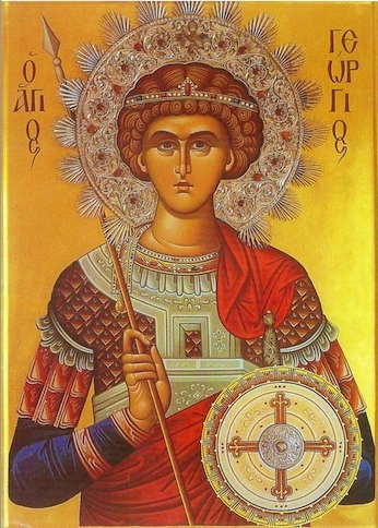 Icon of St George (blessedcelebration.com)