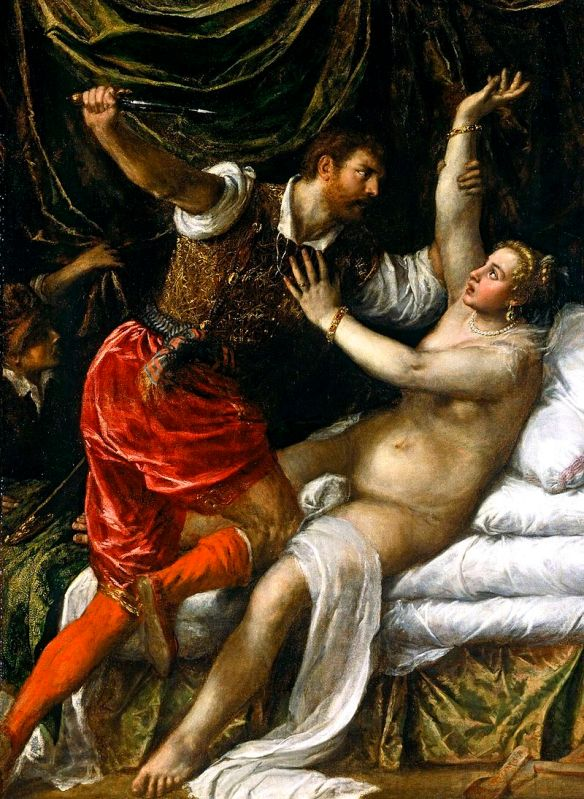 Tarquin and Lucretia by Titian (1571)