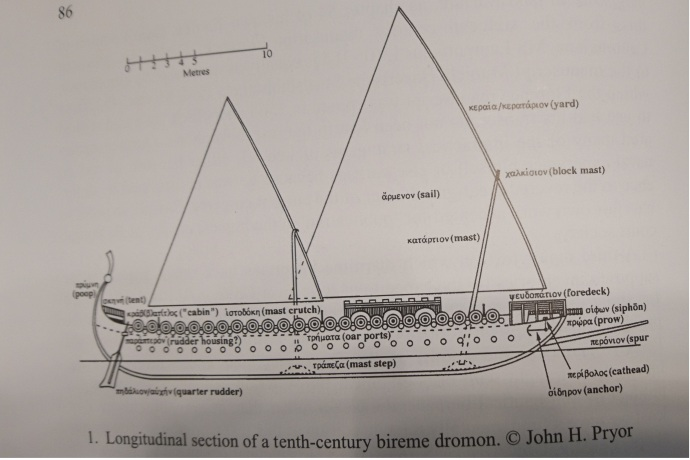 A standard Dromon from War at Sea in the Middle Ages and the Renaissance