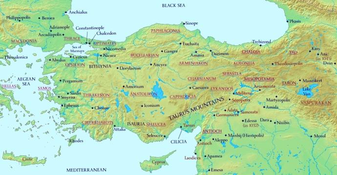 Anatolia and Armenia 1025 AD