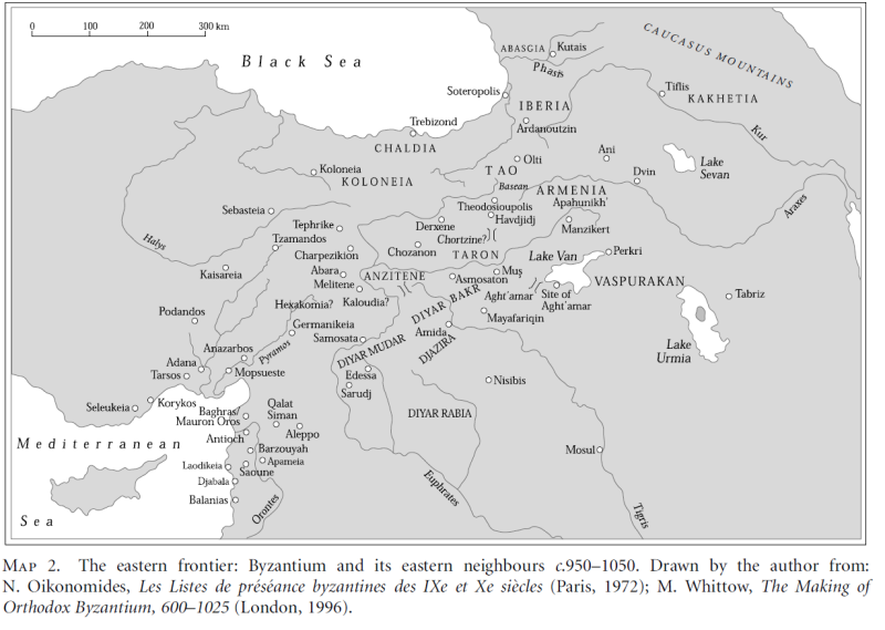 Eastern frontier from 'Basil II and the Governance of Empire' by Holmes