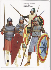 Byzantine infantry from Osprey's Byzantine Armies 886-1118