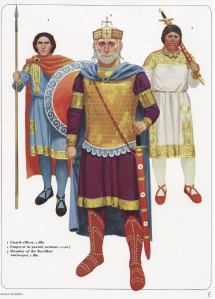 Emperor and guards from Osprey's Byzantine Armies 886-1118