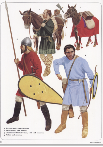 Lightly armoured troops from Osprey's Byzantine Armies 886-1118