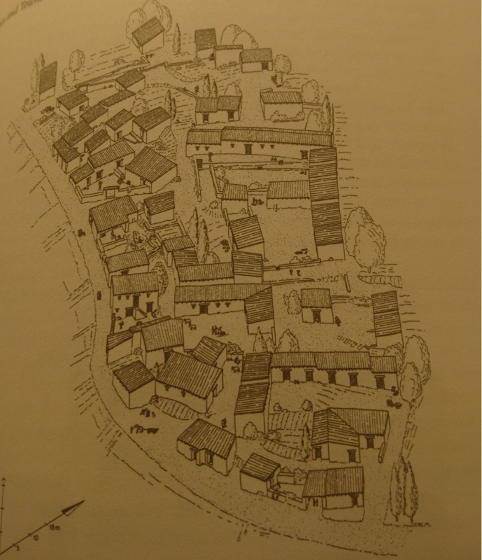 Reconstrcution of houses on the Acropolis of Pergamon (from Daily Life in the Byzantine Empire)