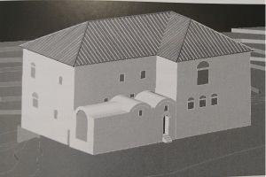 Reconstruction of a manor house in Caria (from the Emperors House) note the 3 windows on the right as seen in the ruins picture