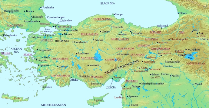 Anatolia and Armenia 1025 AD