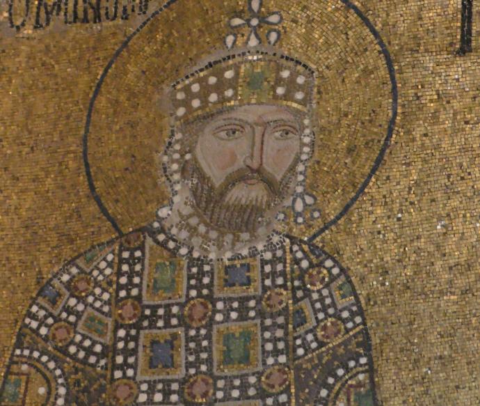 Constantine IX Monomachos (mosaic in Hagia Sophia)
