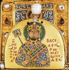 Michael VII Doukas on the the Royal Crown of Hungary