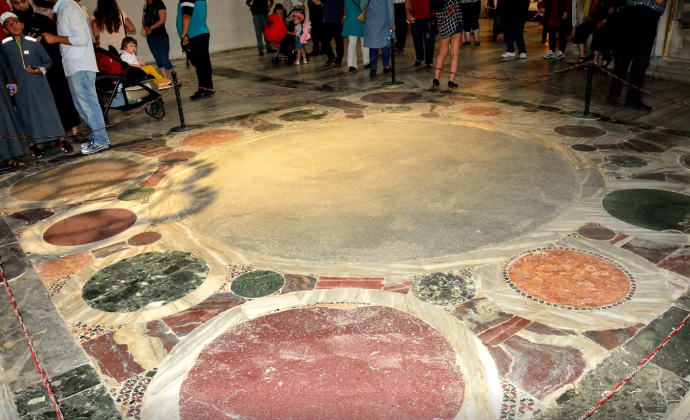 The Omphalion on the floor of Hagia Sophia