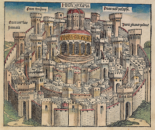 Jerusalem in the Nuremburg Chronicle 1493