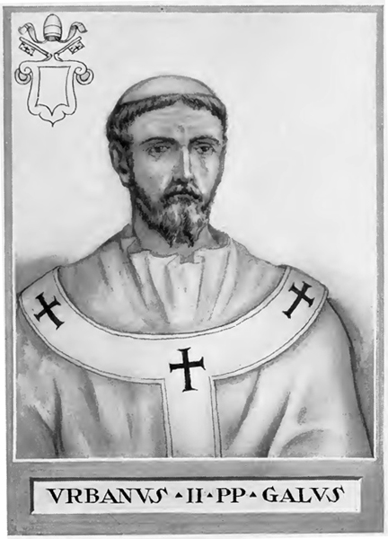 Pope Urban II (illustration by Chevalier Artaud de Montor 1842)