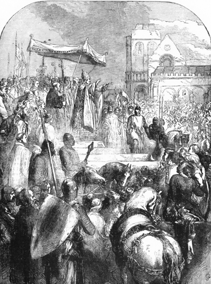 Pope Urban preaches the Crusade from Cassell's Illustrated History of England, Volume 1