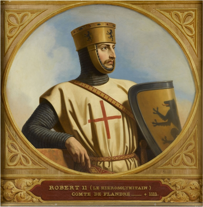 Robert II of Flanders by Henri Decaisne (the son of the man who sent Alexios five hundred Knights)