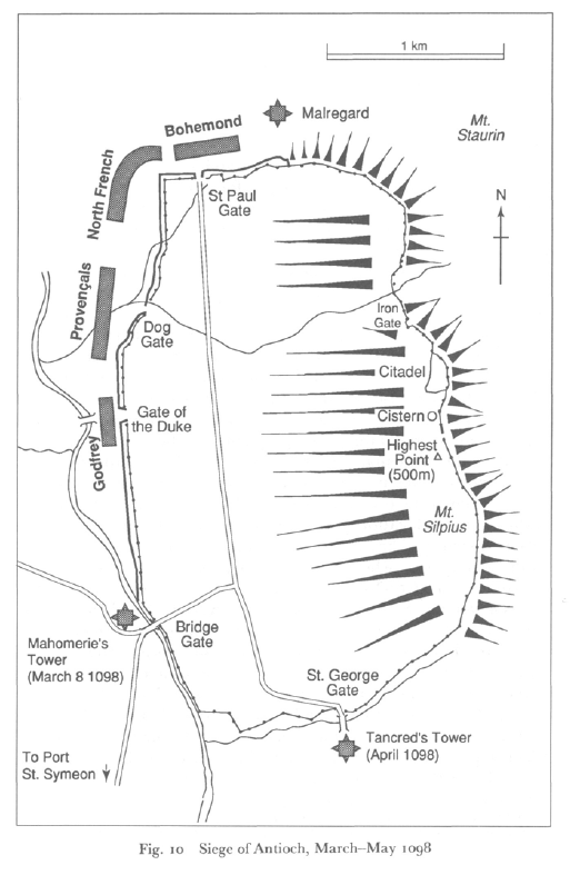 Siege of Antioch. Mar-May 1098 (from Victory in the East by J France)
