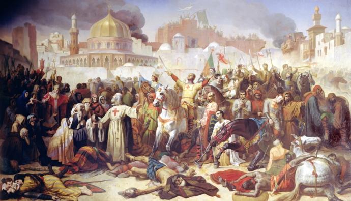 Jerusalem falls by Emile Signol (1847)